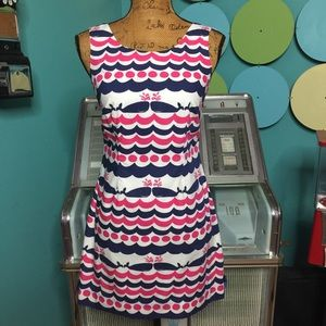 LILLY PULITZER DELIA WHALE SHIFT DRESS